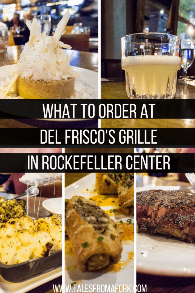 Del Frisco's Grille in Rockefeller Center is great for a night out with friends, a business lunch, and even for a dinner before a Broadway show. You must get the VIP signature drink, coconut cream pie, ahi tuna tacos & more! Here's what to order so you get all the goodness.