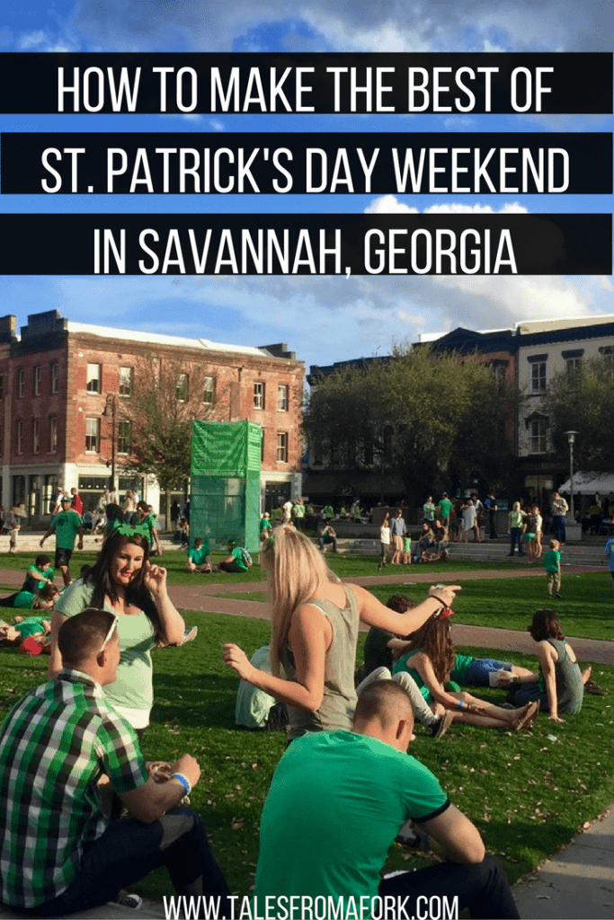 You can drink out in public in Savannah, which is one of the reasons why it's so great for St. Patrick's Day. Check out other tips from my weekend there!