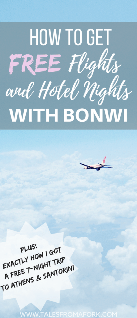 I'm not normally a fan of reward sites, but because of Bonwi.com, I was able to get a free 7 night trip to Greece, which includes my flight and hotel! Find out what Bonwi is all about and how you can build up rewards really quickly like me!