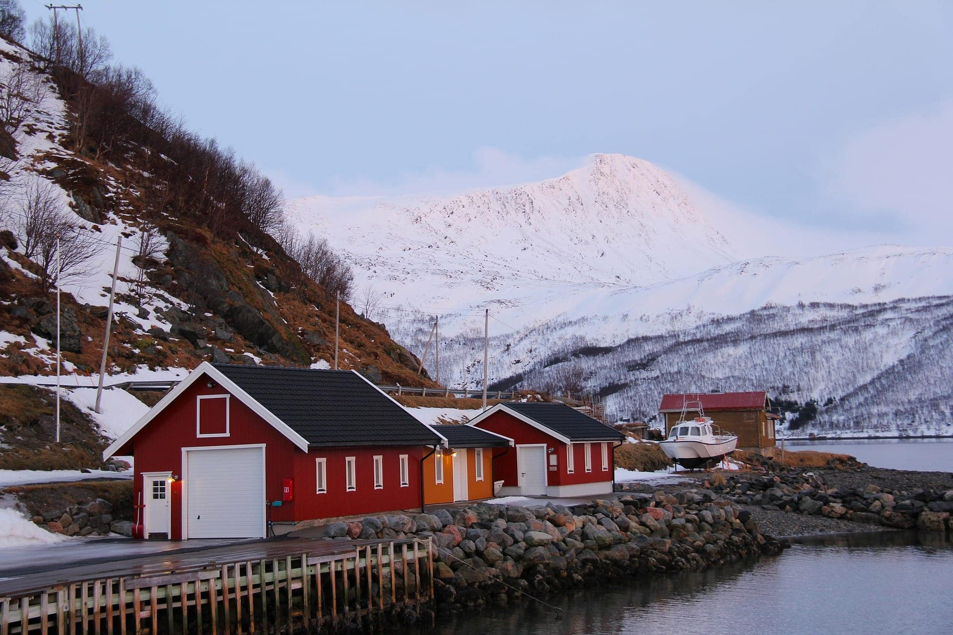 kvaloya norway colorful homes mountain lake lust 'till dawn www.fromlusttilldawn.com
