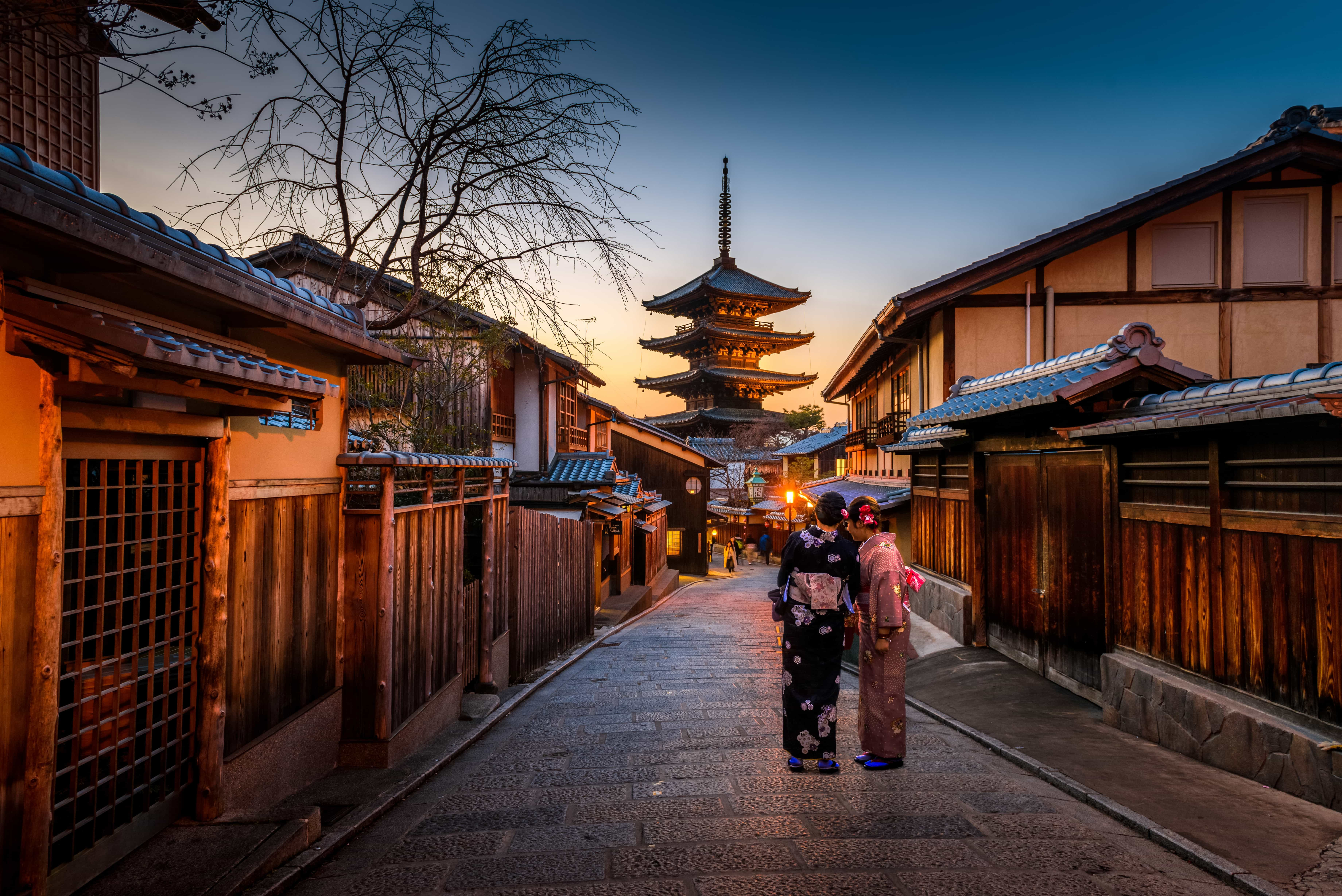 women in kimono in tokyo which is one of the places to visit in japan for first timers