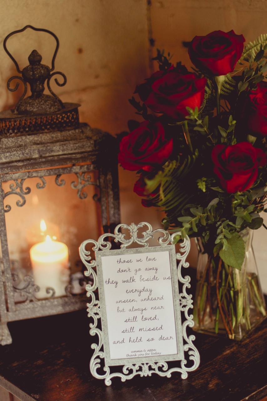Remembering Loved Ones At Wedding With A Memorial Table And More Sarah Chetrit S Lust Till Dawn
