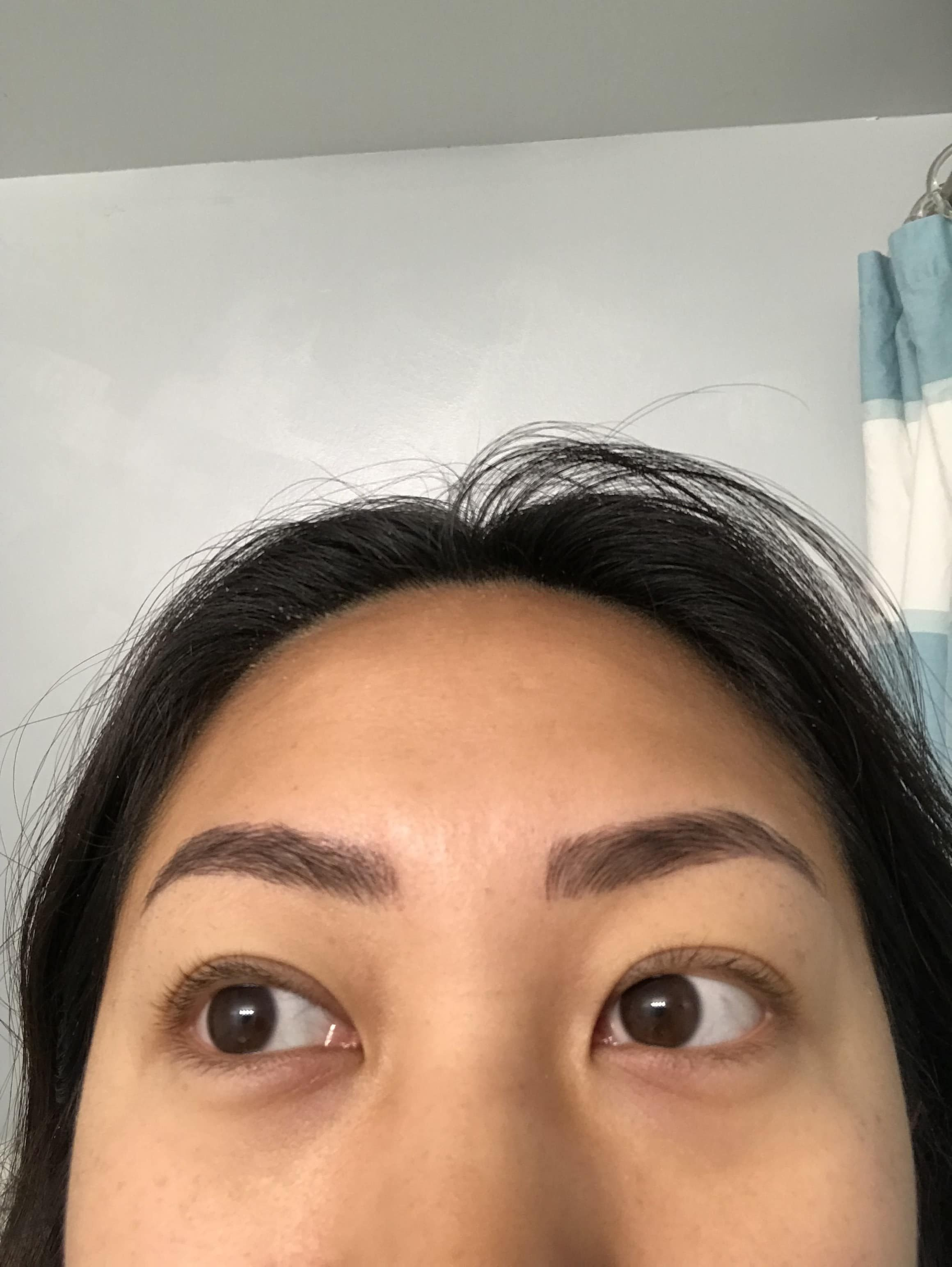 what eyebrows look like six days after best microblading NYC