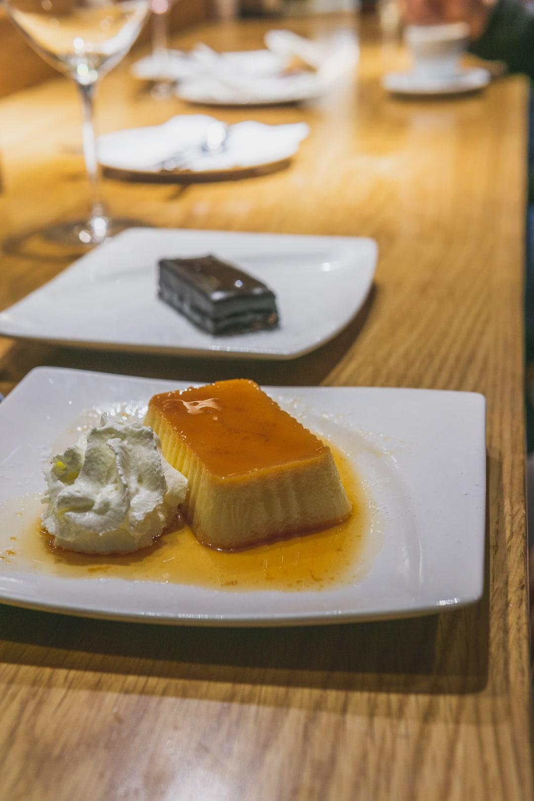 dessert at Cerveseria Catalana best restaurants in barcelona