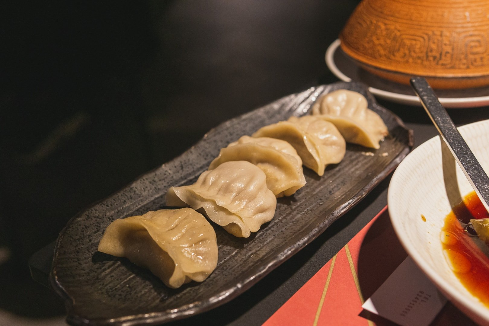 duck foie gras dumplings at out of china, best restaurants in barcelona