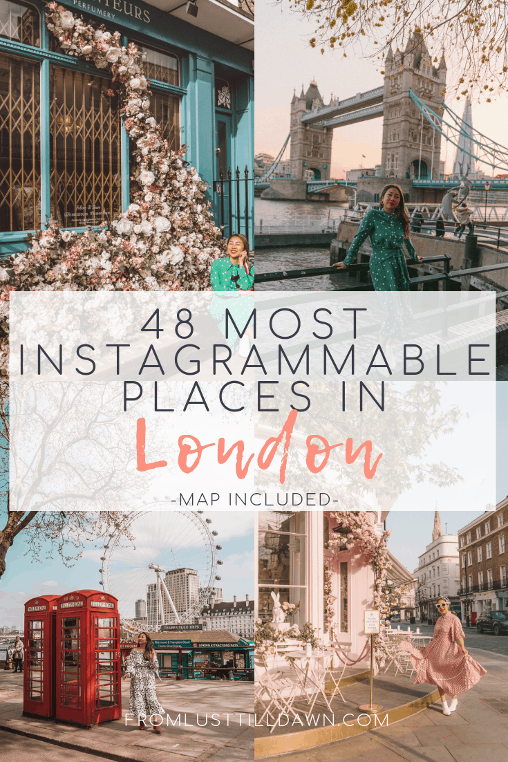 most instagrammable places in london pinterest graphic