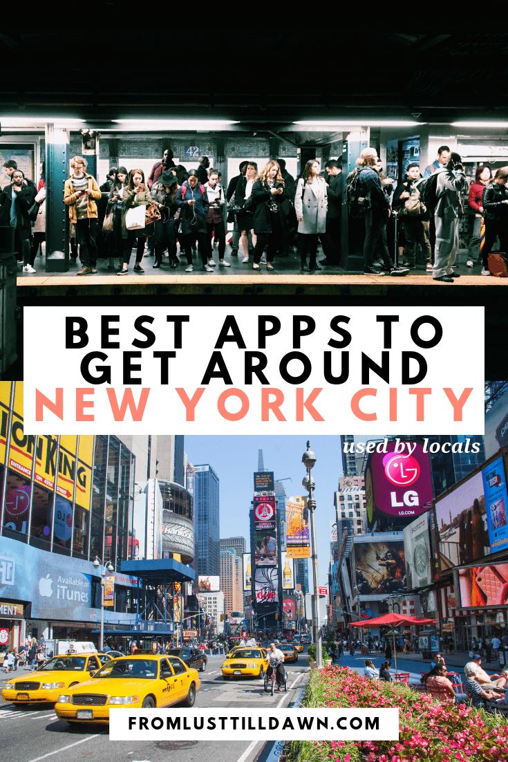 best apps to get around new york city pin