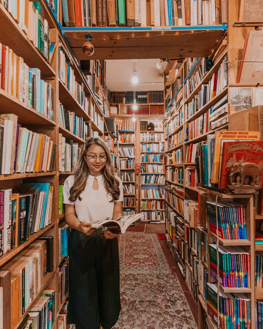 Armchair books, one of the most Instagrammable places in Edinburgh
