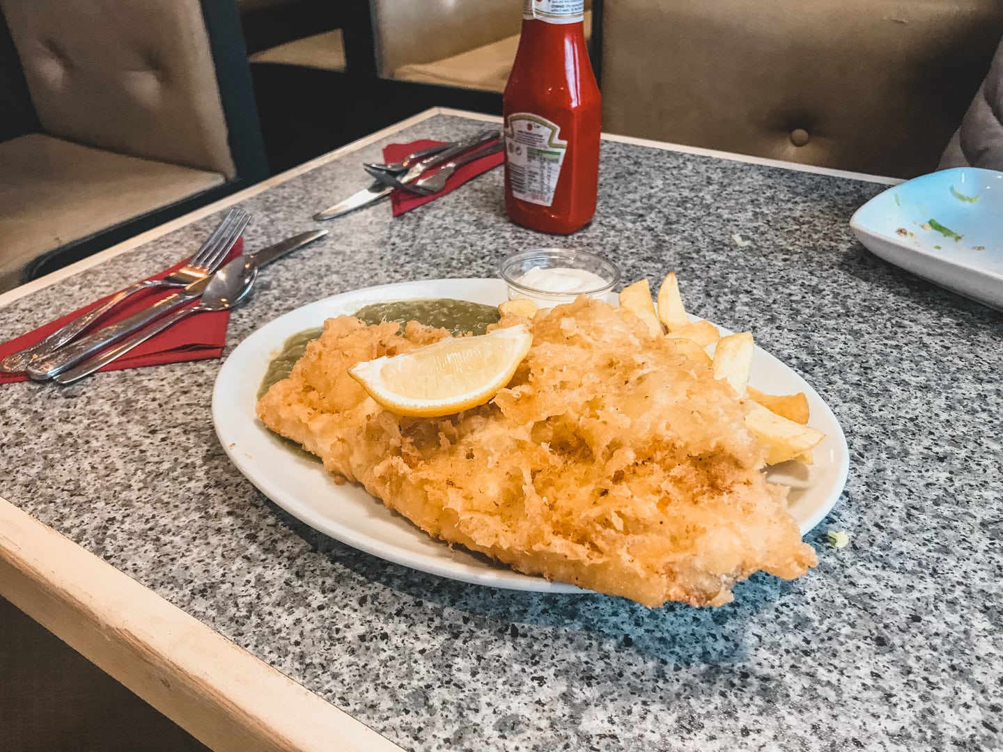 fish and chips from Happy Haggis aviemore scotland