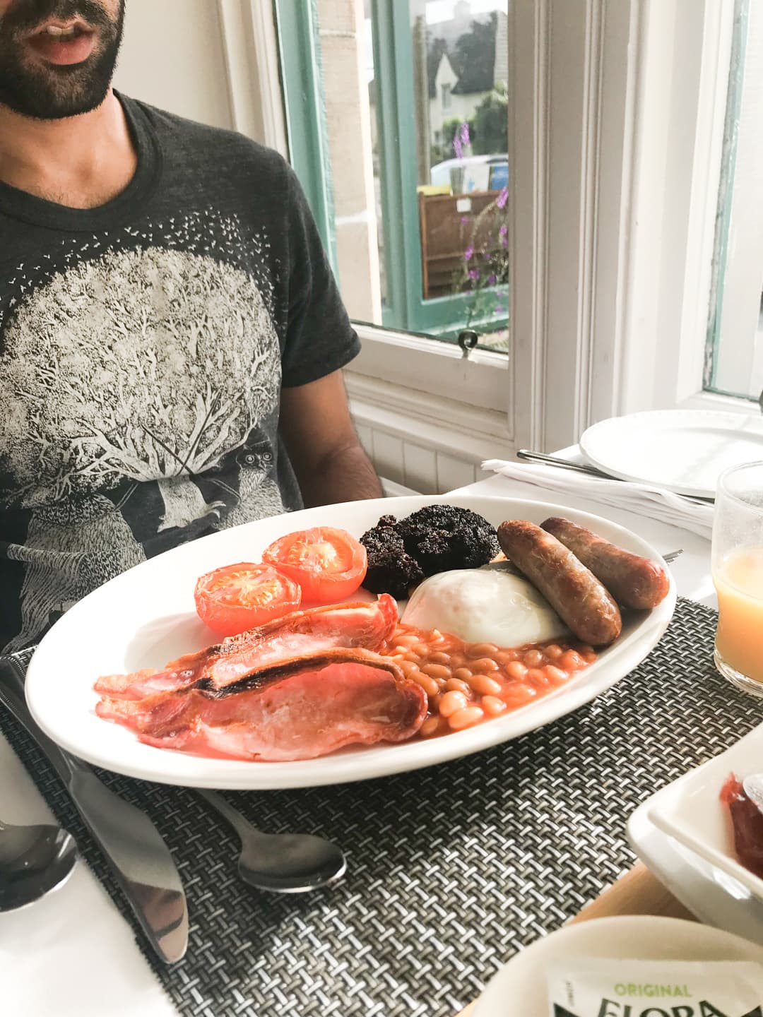 Scottish breakfast at Cairngorm Guest House