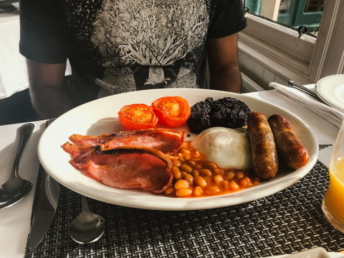 Homemade Scottish Breakfast, which is a must-do in my Scotland travel guide