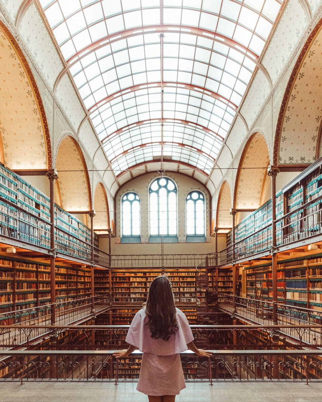 Inside the Rijksmuseum library, one of the most Instagrammable places in Amsterdam