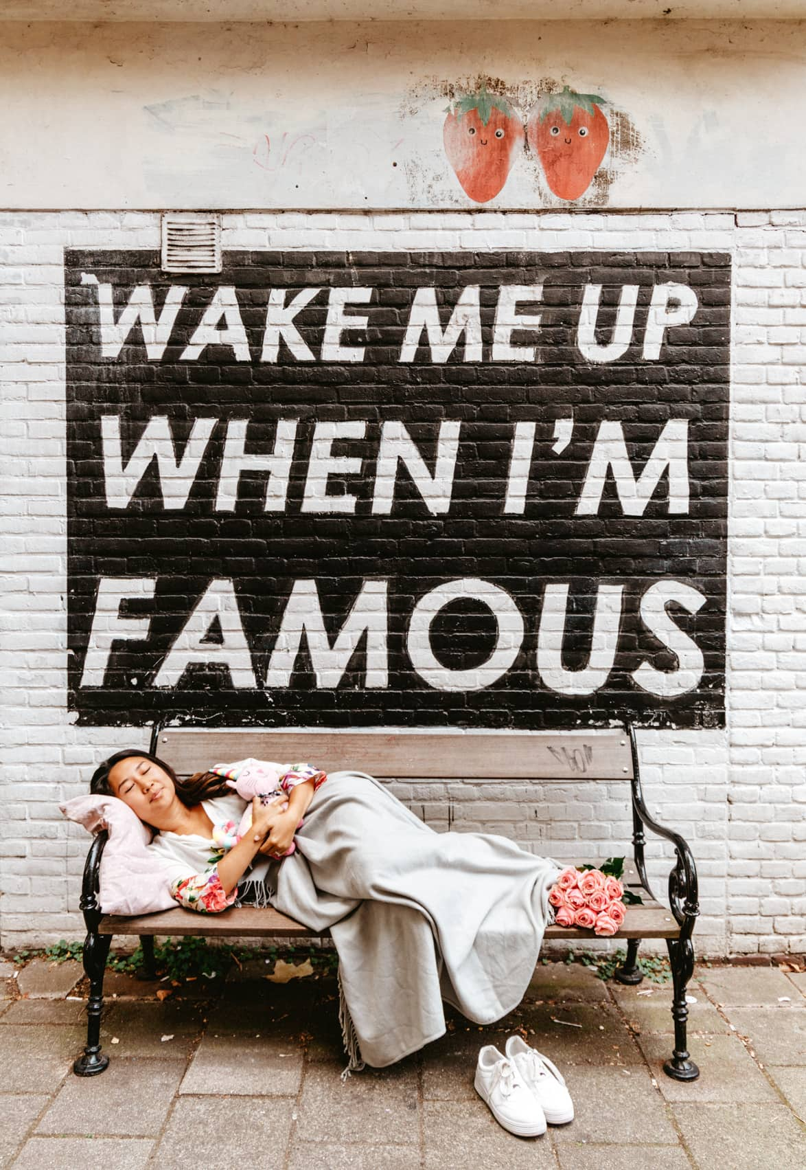Wake me up when I'm famous Amsterdam Instagram spot