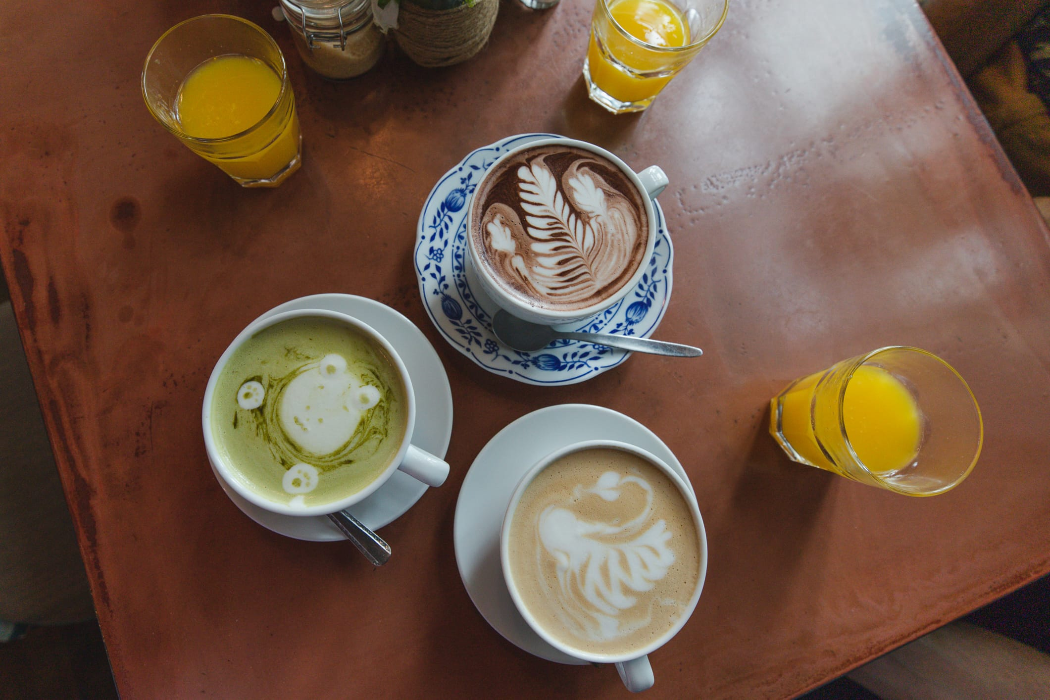 Cute lattes at Small Wonder, which is where to eat in Berlin