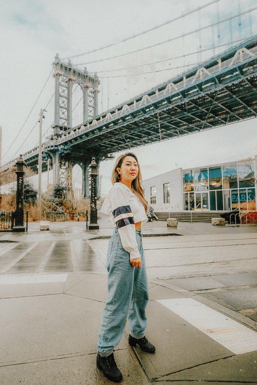 manhattan bridge, one of nyc instagram spots