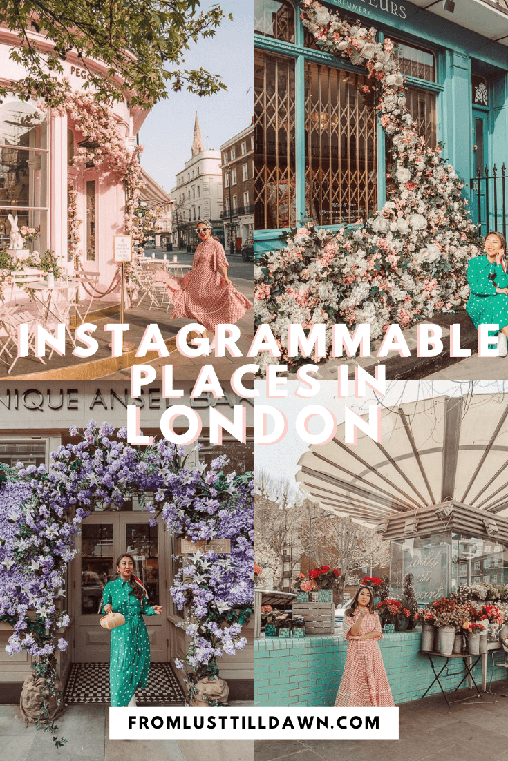 instagrammable places in london PIN