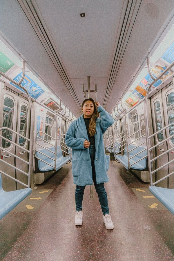 the subway is one of the instagrammable places in NYC