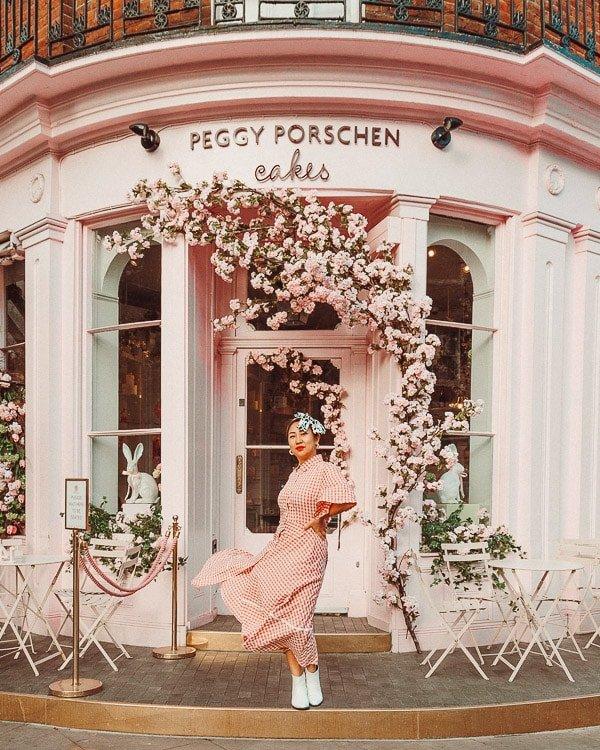 storefront of peggy porschen, the best of london instagram spots
