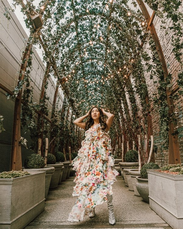 nomo soho is a popular place for instagram photos in nyc; dress by Son Jung Wan