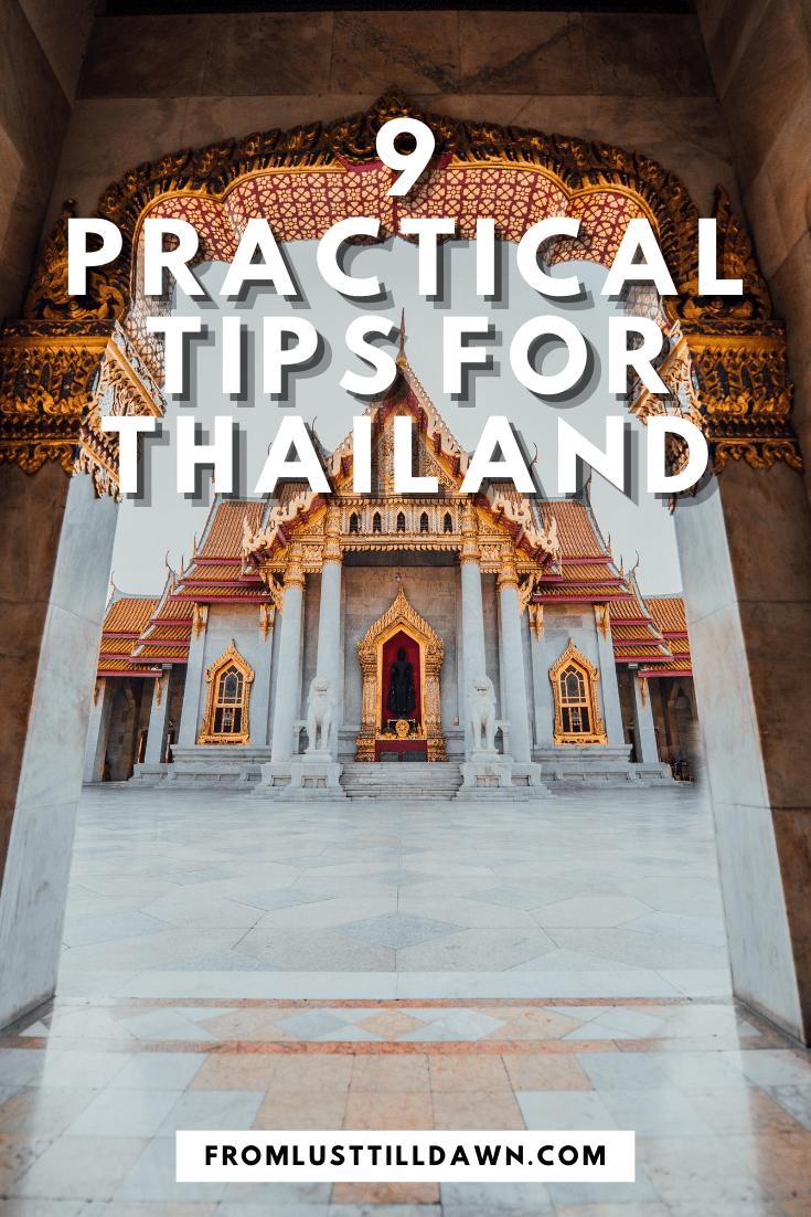 Thailand travel advice pin