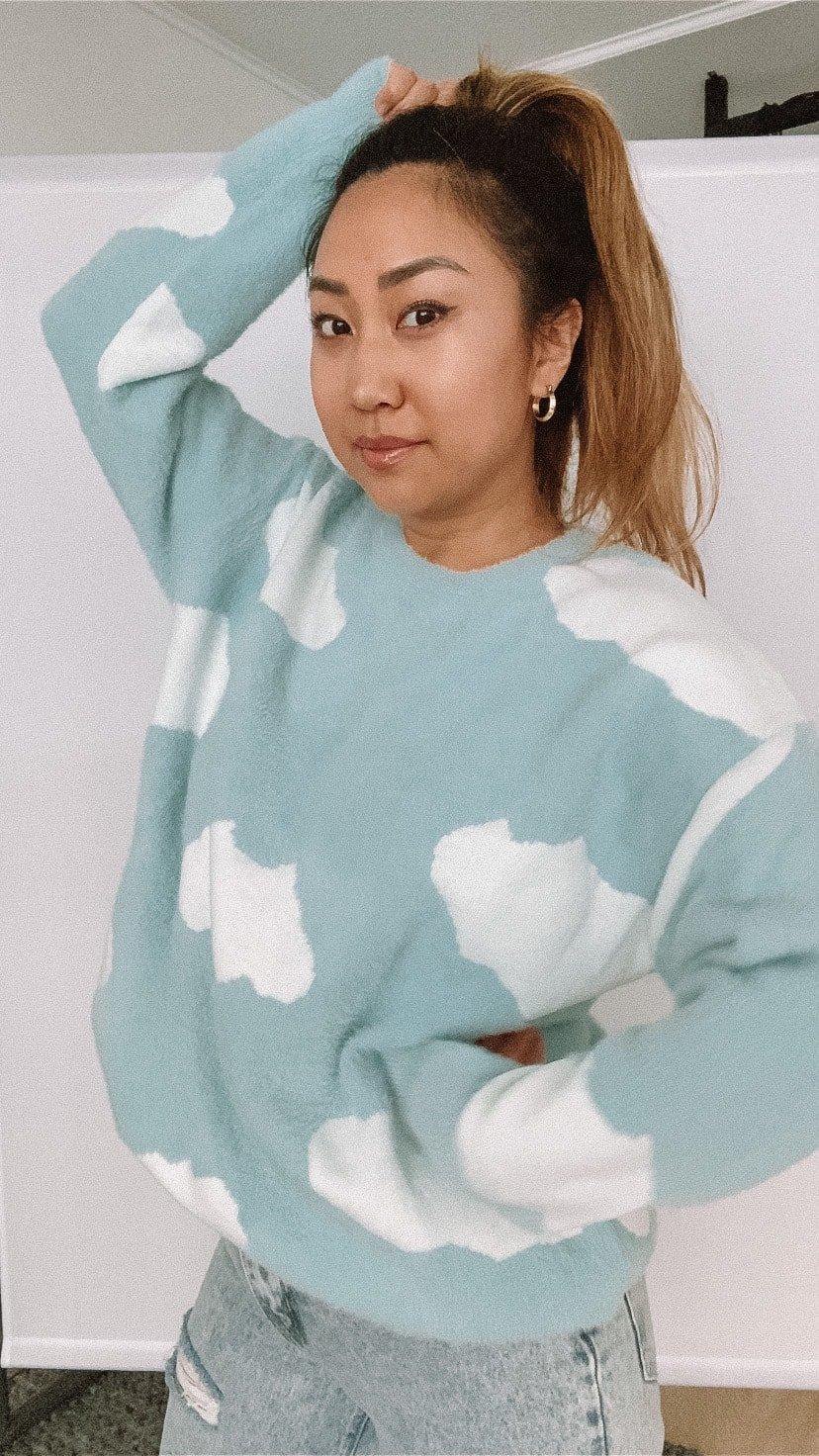 soft girl aesthetic: soft girl sweater